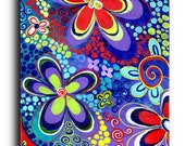 Gallery Canvas and Fine Art Prints Psychedelic Flower Whimsical Hippie Modern Contemporary Giclee Elena