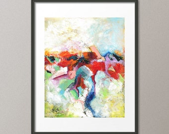 16 X 20 SALE Fine Art Giclee Print Colorful Abstract Contemporary Modern Minimalist Home decor REG. 45.00