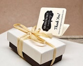 """75 Mini Folding Thank You Cards 1.5"""" - Packaging Social Media - Gift Tags - Party Tags - Wedding Tags - Favor Tags"""