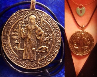 protection St BENEDICT Saint SAN BENITO Anting-Anting Ward off Evil Spirits talisman amulet pendant medal Exorcism agimat