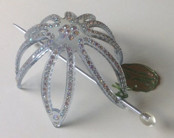 Guinet Freres Rhinestone Bun Holder French