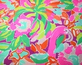 """Lilly Pulitzer fabric Spring 2015~"""" LULU""""~ 100%  Cotton"""