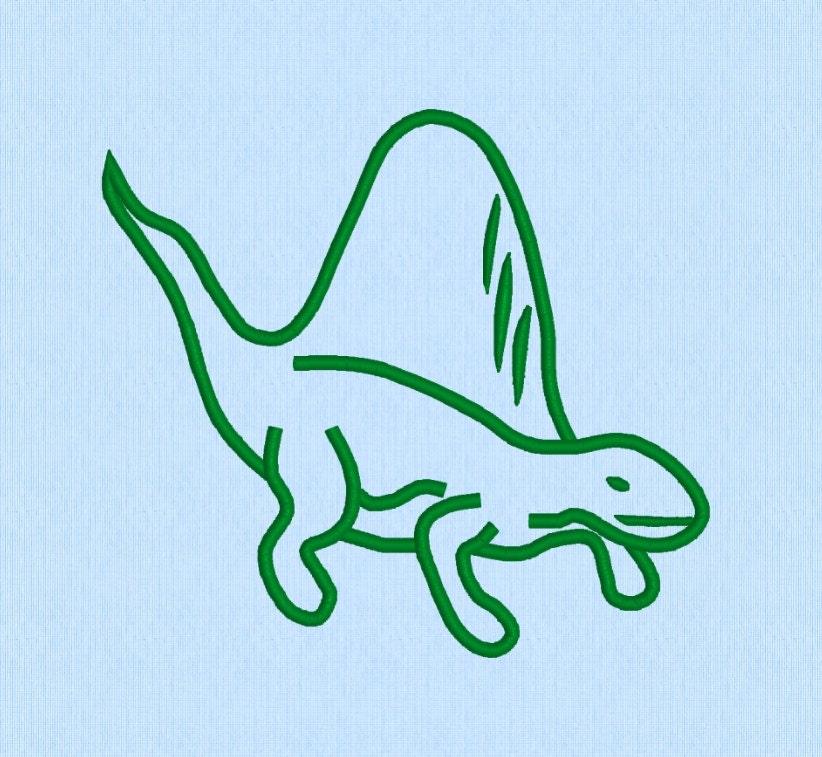 Dinosaur Applique Machine Embroidery Design File