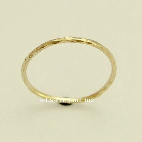simple band yellow gold band wedding ring thin by artisanlook