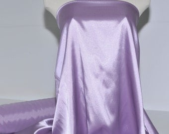 "Stretch Satin Lilac Purple  fabric 60"" wide...bridal, lingerie , home decor, pajama's, sleep wear, formal wear"
