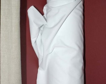 """Cotton Sheeting Fabric White 110"""" wide, 3 yards , 50 cotton, 50 polyester.. quilts, quilting, tablecloths, costumes,  theater"""