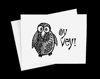 Oy Vey Note Card Blank Inside Single Greeting Card