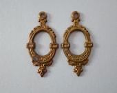 Dainty Victorian Brass Earring Findings Made USA