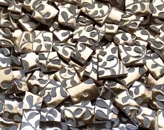 Mosaic Tiles--Bronze/Small Leaf --100 tiles--Sale