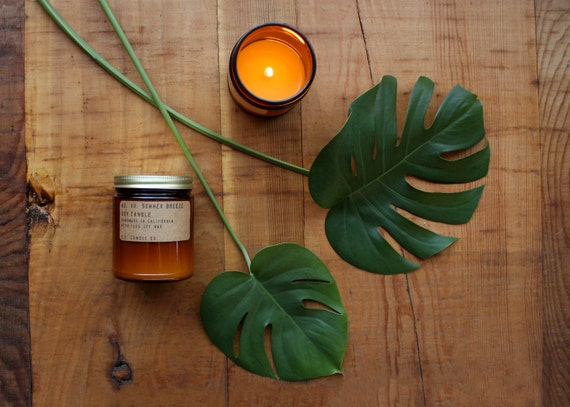 No. 08: SUMMER BREEZE - 7.2 oz soy wax candle - tropical orchid, awapuhi and gardenia - P.F. Candle Co.