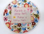 Original Embroidery Hoop Art by Babylon Sisters