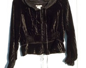 Gorgeous Black Velvet 90's Victorian Look  Gothic Gypsy Blouse witchy witch size Med medium