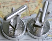 Engravable Cufflinks, Custom Cufflinks, Engraved Gifts, Groomsmen Gift, World Map Cufflinks for Groom