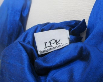 Silk Ring Sling Double Layer Dupioni Baby Carrier - Cobalt Blue - DVD included - NEW RELEASE