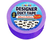 Duct Tape - with Adhesive Letters - Purple - 10 yards