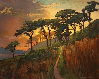 Golden Hour - Giclee Fine Art PRINT of Original Painting matted 16x20 by Jan Schmuckal