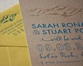 Letterpress Wedding Invitation, Rustic Ridgeline, Mountain