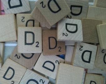 Letter D Scrabble letter tiles 50