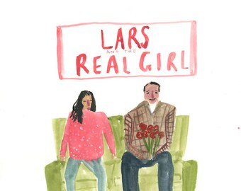Lars and the Real Girl - Original wonky movie poster painting