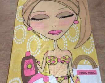 Beach Towel - She wore a teeny weeny yellow polka dot bikini