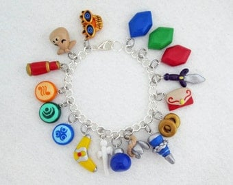 Custom Choose Your Game Legend of Zelda THEMED Video Game Bracelet with 17 Charms