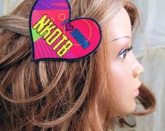 New Kids NKOTB I Love Jordan Hair Clip MTCoffinz