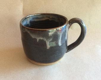 MIDNIGHT blue and black handmade mug, coffee mug, tea mug, ready to ship, ceramic, pottery, stoneware, kitchen, gift  MCP 23*