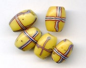 Antique French Cross Trade Beads, Yellow Venetian Trades (5)
