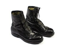 Vintage 1965 US Military Black Leather Combat Boots DSA100-1751 Mens Size 8 1/2 D