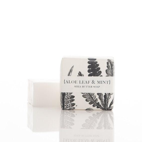 Mini Soap - Aloe Leaf & Mint - Shea Butter Bar
