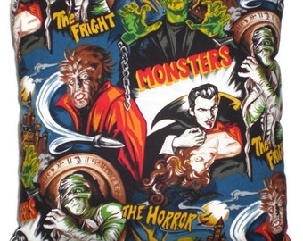 Horror Movie Monsters Throw Pillow Decorative Pillow Home Decor Bedding Psychobilly