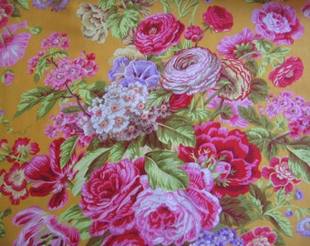 Floral Delight in yellow - part of the spring 2015 Kaffe Fassett Collection