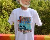 vintage 80s tee shirt christmas JESUS reason season christ t-shirt XL xmas nativity