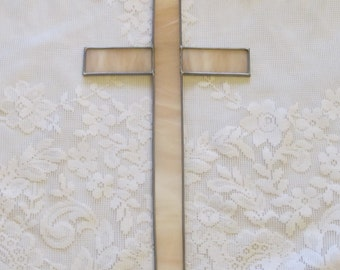 Champagne Pink Cross in Stained