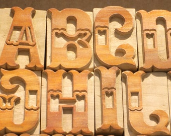 LETTERPRESS - Complete Alphabet Set - Gorgeous Font - 26 Items - Lot 401