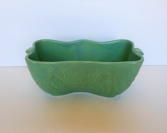 Imperial Pottery Green Rectangular Planter