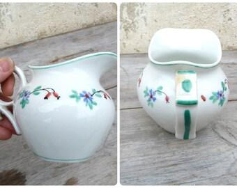 Vintage Antique old French 1900 petit pot de creme / ceramic /cream pot