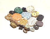 Bargain Mix Pendants Beads Ceramic Pottery Tribal Boho Eclectic Textured Stoneware Clearance Sale Tubes Focals Charms 23 Rustic Assortment