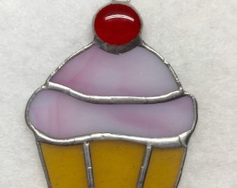Stained Glass Ornament - Cupcake