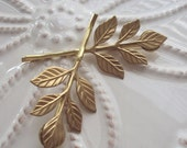 Mothers Day SALE Golden Leaf Bobby Pin Duet