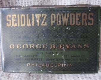 Antique Vintage Seidlitz Powders, George B. Evans, Philadelphia, Ships Worldwide