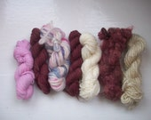 Grab bag assorted yarn 50g pink, burgundy, cream GBR11