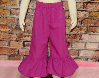 Magenta  Ruffle Pant, Girls Pants, Toddler Pant, Girl Ruffle Pant