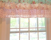 Custom Designer 3 Tier Ruffled Valance Window Treatment You Choose Fabric(s) & Customize