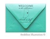 Wedding Stamp, Wedding Welcome Bag Stamp, Favor Stamp