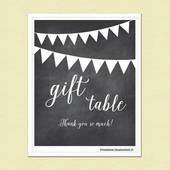 Wedding Gift Table: PRINTABLE Wedding Gift Table Sign Card Sign Gift By Freshline