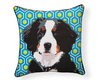 Pooch Décor: Bernese Mountain Dog Pillow