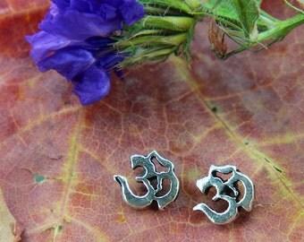 Tiny Sterling OM earrings