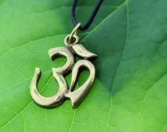Large Sanskrit Brass OM Pendant