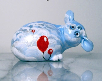 OOAK Blue Sky and White Clouds Tiny Turble